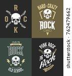 vintage hard and punk rock... | Shutterstock .eps vector #762479662