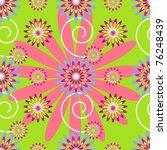 flowers on green background | Shutterstock .eps vector #76248439
