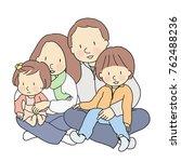 vector illustration of happy...   Shutterstock .eps vector #762488236