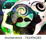 stained glass forever series.... | Shutterstock . vector #762496282