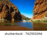 glen helen gorge  central... | Shutterstock . vector #762501046