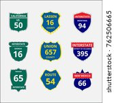 road sign interstate flat... | Shutterstock .eps vector #762506665