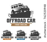 template of off road car logo ... | Shutterstock .eps vector #762520948