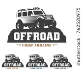 template of off road car logo ... | Shutterstock .eps vector #762520975