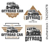 template of off road car logo ... | Shutterstock .eps vector #762520978
