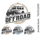 template of off road car logo ... | Shutterstock .eps vector #762521005