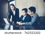 asian businessmen and group... | Shutterstock . vector #762522202