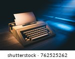 high contrast image of a retro... | Shutterstock . vector #762525262