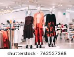 mannequins dressed in female... | Shutterstock . vector #762527368