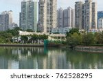 downtown building across yun... | Shutterstock . vector #762528295
