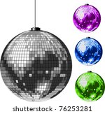 disco ball. all elements and... | Shutterstock .eps vector #76253281