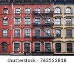 old manhattan apartment... | Shutterstock . vector #762533818