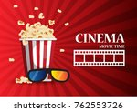 movie cinema poster design.... | Shutterstock .eps vector #762553726