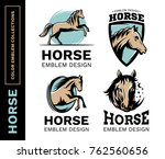 horse collection color emblem ... | Shutterstock .eps vector #762560656