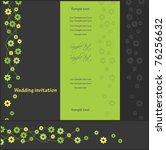 wedding invitation  vector | Shutterstock .eps vector #76256632