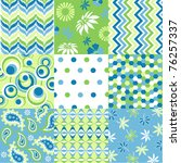 seamless patterns with fabric... | Shutterstock .eps vector #76257337