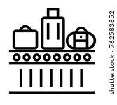 conveyor belt vector outline... | Shutterstock .eps vector #762583852