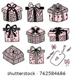 gift boxes doodle | Shutterstock .eps vector #762584686