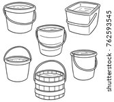 vector set of buckets | Shutterstock .eps vector #762593545