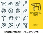 power tools icons set. set of...