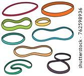 vector set of rubber bands | Shutterstock .eps vector #762598936
