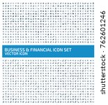business and financial icon set ... | Shutterstock .eps vector #762601246