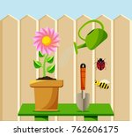colored flat background  vector ... | Shutterstock .eps vector #762606175