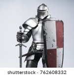 knight with sword and shield | Shutterstock . vector #762608332