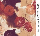 imprints abstract flowers and... | Shutterstock . vector #762613648