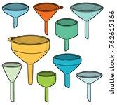 vector set of funnels | Shutterstock .eps vector #762615166