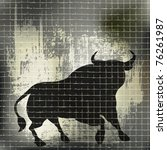 grunge bull vector background