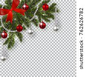 new year christmas. a green... | Shutterstock .eps vector #762626782