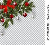 new year christmas. a green... | Shutterstock .eps vector #762626782