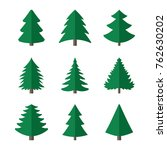 christmas fir tree of an icon.... | Shutterstock .eps vector #762630202