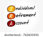 ira   individual retirement... | Shutterstock .eps vector #762633352