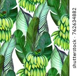 tropical seamless pattern with... | Shutterstock . vector #762634882