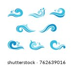 water wave element collections... | Shutterstock .eps vector #762639016