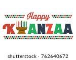 happy kwanzaa banner vector | Shutterstock .eps vector #762640672
