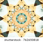 abstract multicolored fractal... | Shutterstock . vector #762650818