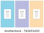 set of vertical seamless line... | Shutterstock .eps vector #762651652