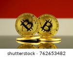 physical version of bitcoin and ... | Shutterstock . vector #762653482