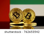 physical version of bitcoin and ... | Shutterstock . vector #762653542