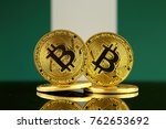 physical version of bitcoin and ... | Shutterstock . vector #762653692