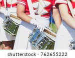 Drummer Girl In School Uniform...