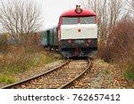 diesel locomotive  historic... | Shutterstock . vector #762657412