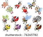 set insects vector. | Shutterstock .eps vector #76265782
