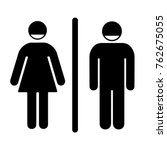 sign icon male and female... | Shutterstock .eps vector #762675055