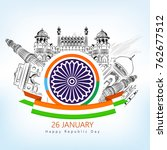 republic day   republic day... | Shutterstock .eps vector #762677512