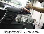 car detailing   hands with... | Shutterstock . vector #762685252