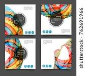 set of square color brochures ...   Shutterstock .eps vector #762691966